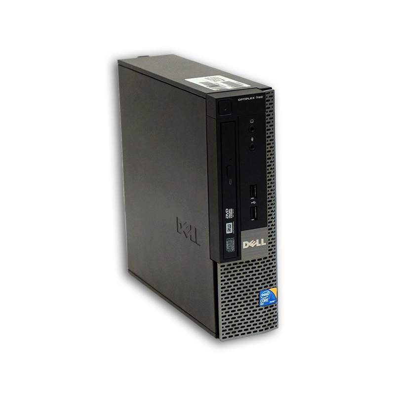 Počítač Dell OptiPlex 780 USFF Intel Core 2 Duo E8400 3,0 GHz, 4 GB RAM, 160 GB HDD, Intel GMA, DVD-ROM, COA štítek Windows 7 PRO