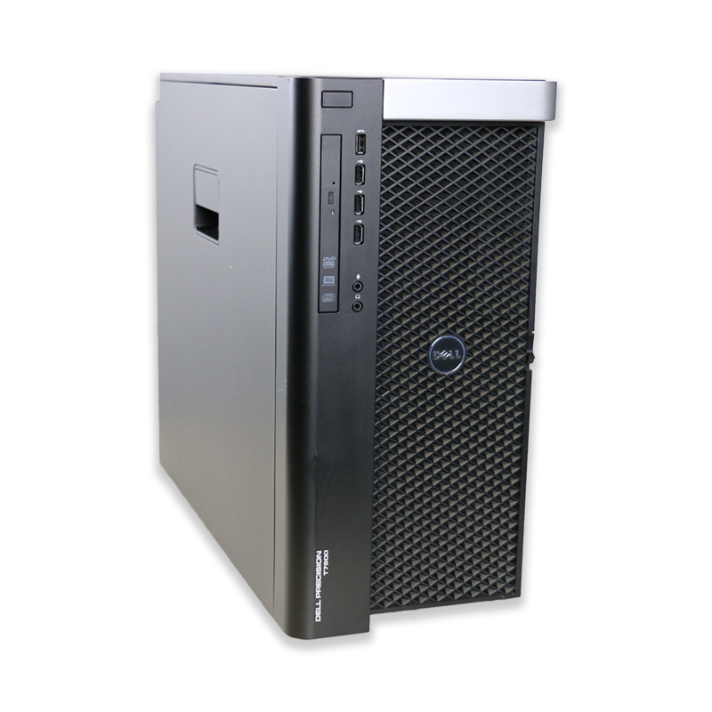 Počítač Dell Precision T7600 tower 2x Intel Xeon Octa Core E5-2687 3,1 GHz, 96 GB RAM, 4000 GB HDD, Quadro 4000, DVD-RW, COA štítek Windows 7 PRO