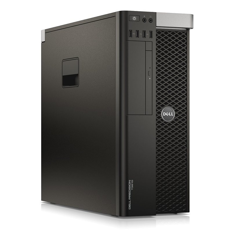 Počítač Dell Precision T3610 tower Intel Xeon Hexa Core E5-1650 v2 3,5 GHz, 16 GB RAM, 1000 GB HDD, Quadro K2000, DVD-RW, el. klíč Windows 10 PRO