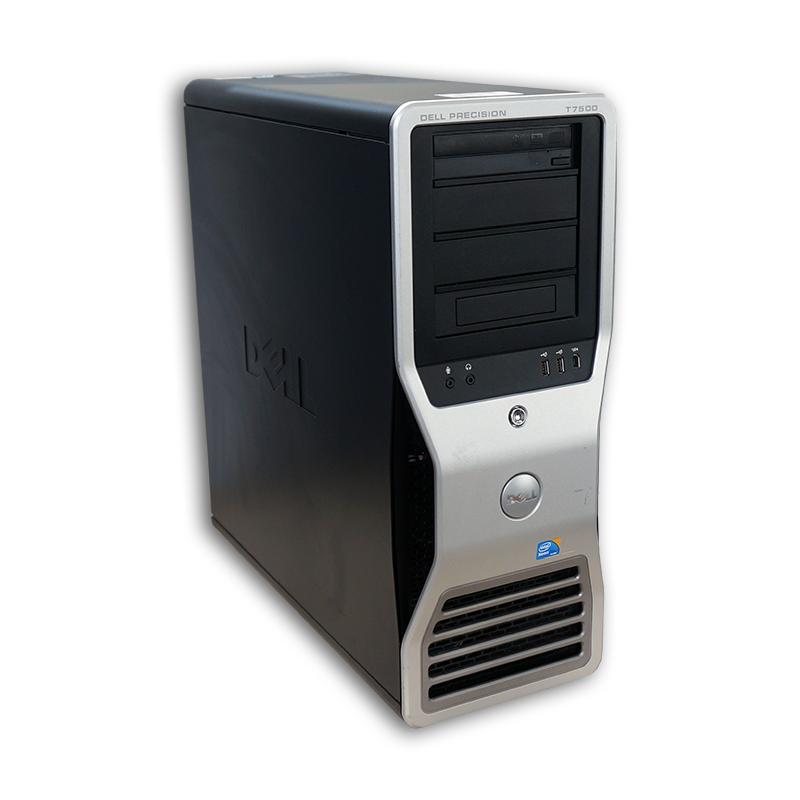 Počítač Dell Precision T7500 tower 2x Intel Xeon Hexa Core X5675 3,06 GHz, 24 GB RAM, 500 GB HDD, Quadro FX 3800, DVD-ROM, COA štítek Windows 7 PRO