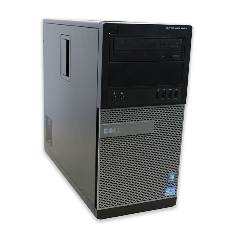 Počítač Dell OptiPlex 990 tower Intel Core i7 2600 3,4 GHz, 4 GB RAM, 320 GB HDD, Intel HD, DVD-RW, COA štítek Windows 7 PRO