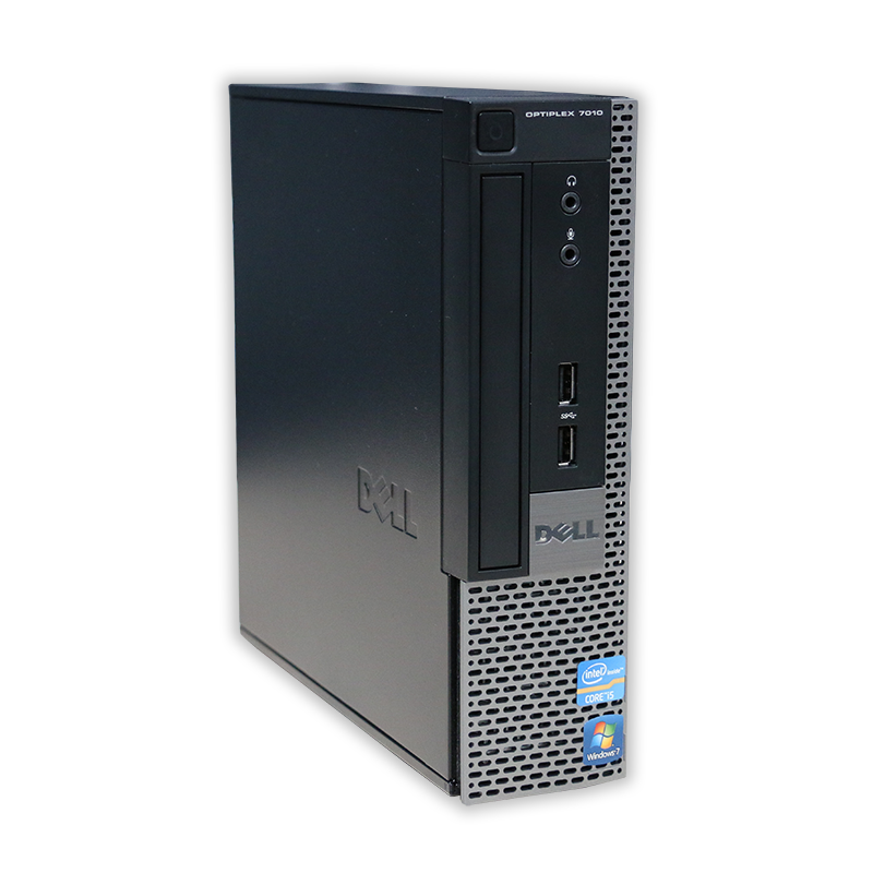 Dell OptiPlex 7010 USFF Intel Core i5 3470S 2,9 GHz, 4 GB RAM, 120 GB SSD, Intel HD, DVD-ROM, COA štítok Windows 7 PRO
