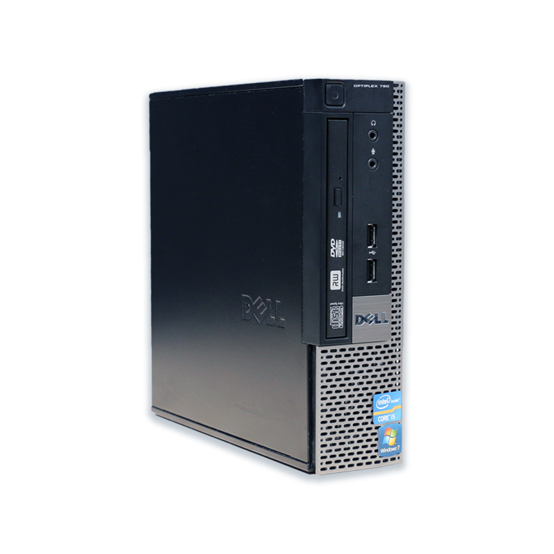 Počítač Dell OptiPlex 790 USFF Intel Pentium G620 2,6 GHz, 2 GB RAM, 250 GB HDD, Intel GMA, DVD-ROM, COA štítek Windows 7 PRO