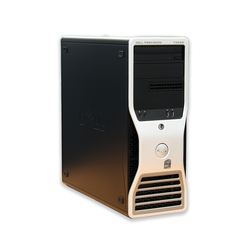Počítač Dell Precision T3500 tower Intel Xeon Quad W3565 3,2 GHz, 6 GB RAM, 250 GB HDD, Quadro 2000, DVD-ROM, COA štítek Windows 7 PRO