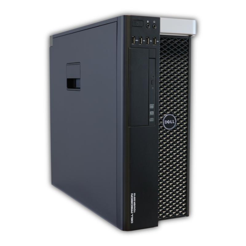 Dell Precision T5810 tower Intel Xeon Hexa Core E5-1650 v3 3,5 GHz, 16 GB RAM, 256 GB SSD + 500 GB HDD, Quadro K2200, COA štítok Windows 7 PRO
