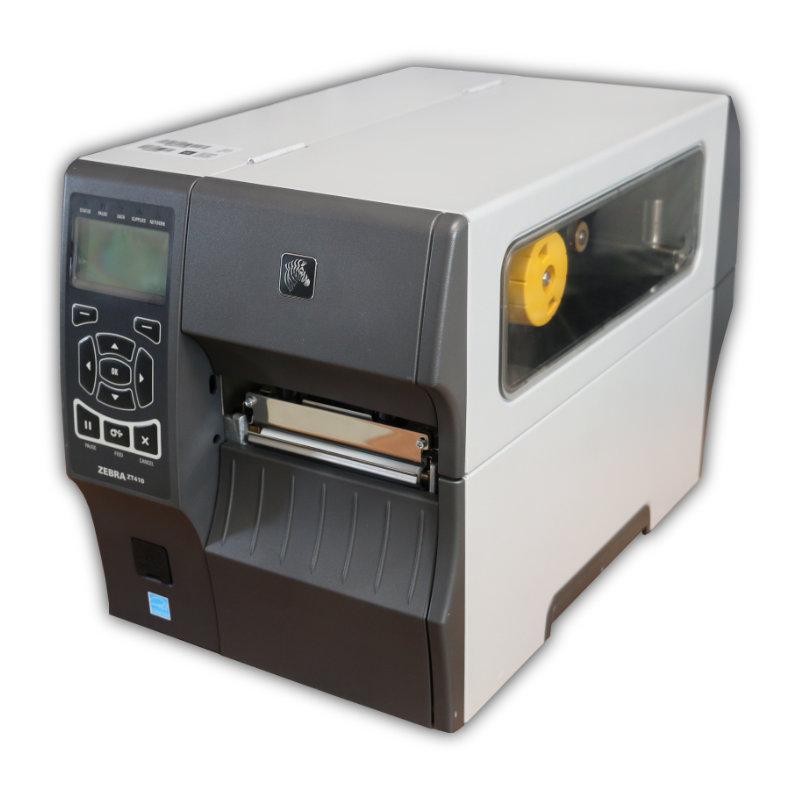 Tlačiareň etikiet Zebra ZT410, termálna a termotransferová tlač, 203 dpi, USB, RS232, LAN, kabeláž