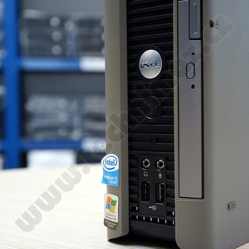 USFF Intel PD 2,8 GHz, 2 GB RAM DDR2, 80 GB HDD SATA, CD-ROM, COA Windows XP PRO s kabelem (8)