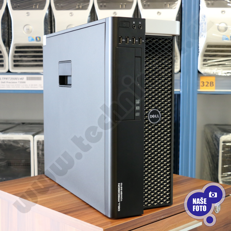 tower Intel Xeon Hexa Core E5-1650 v3 3,5 GHz, 16 GB RAM, 256 GB SSD + 500 GB HDD, Quadro K2200, COA štítek Windows 7 PRO (6)