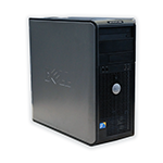 Počítač DELL OptiPlex 780 tower Intel Core 2 Quad Q8400 2,66 GHz, 8 GB RAM DDR3, 250 GB HDD SATA, DVD-ROM, COA štítek Windows 7 PRO