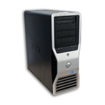 Počítač DELL Precision T7500 tower 2x Intel XEON QUAD E5620 2,4 GHz, 48 GB RAM, 2x500 GB HDD SATA, DVD-ROM, Quadro 4000 2GB, COA štítek Windows 7 PRO